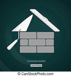 gebouw, woning, symbool, creatief, vector, ontwerp