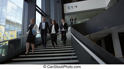 gebouw, zaal, kantoor, zakenlui