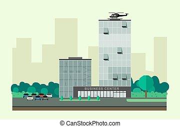 gebouw, zakelijk