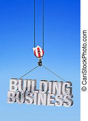 gebouw, zakelijk, in, bouwsector