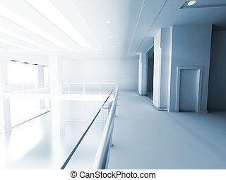 gebouw, zakelijk, licht, venster, zaal, kolommen