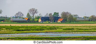 gebouw, zeeland, platteland, boerderij, natuur, nederland,...