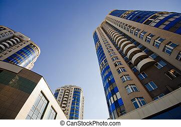 gebouwen, appartement blok