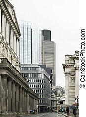 gebouwen, in, stad van londen