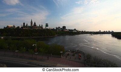 gebouwen, parlement, canada's, ottawa, hoog, heuvel