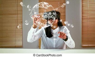 gebräuche, frau, gläser 3d