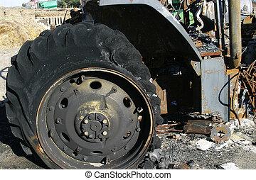 gebrande, detail, tractor