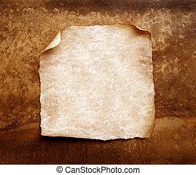 gebrande, papier, oud, randen