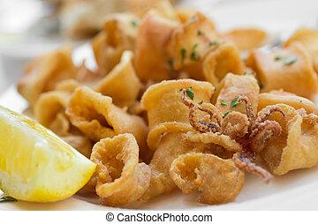 gebraten, calamari