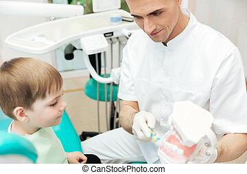 gebrauch, ausstellung, zahnbürste, wie, zahnarzt, putzen zähne