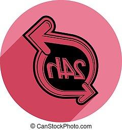 gebrauch, symbol, zeit, idee, freigestellt, stunden, schnittstelle, rennender , weißes, advertising., icon., twenty-four, tag