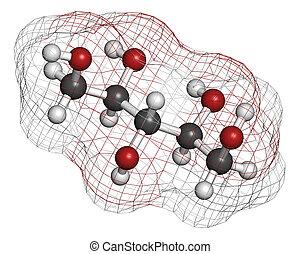 gebraucht, molecule., xylitol, zucker, künstlich,...