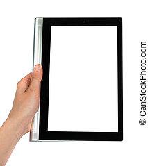 gebruik, de, tablet pc