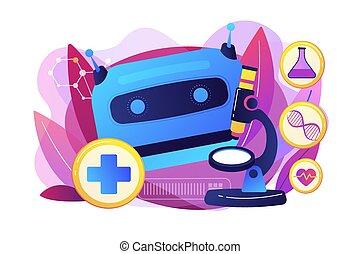 gebruiken, concept, ai, illustratie, vector, gezondheidszorg