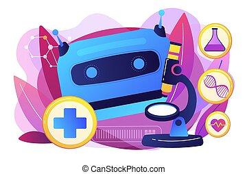 gebruiken, concept, illustration., ai, vector, gezondheidszorg