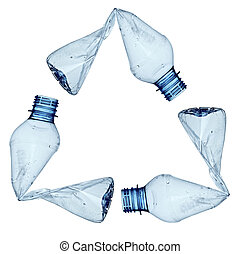 gebruikt, milieu, ecologie, fles, afval, lege