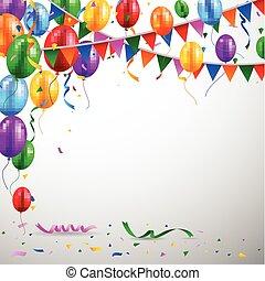 geburstag, balloon