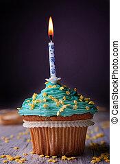 geburstag, cupcake