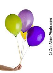 geburstag, luftballone