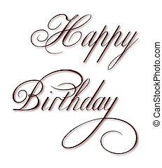 Geburtstag, Happy, Gl?cklich, Vektor - geburtstag, happy,...