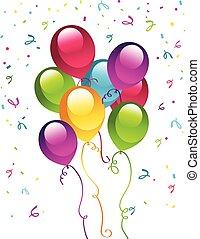 geburtstagparty, luftballone