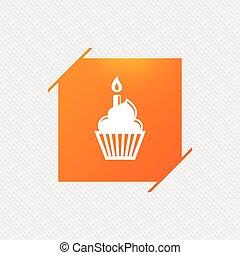 kerze brennender cupcake kerze vektor brennender cupcake. Black Bedroom Furniture Sets. Home Design Ideas