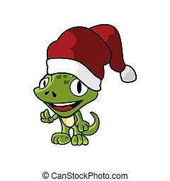Gecko Claus Mascots.eps