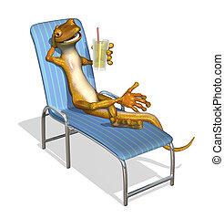 gecko, délassant