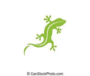 Gecko green logo vector symbol