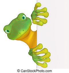 gecko, mit, a, unbelegtes zeichen