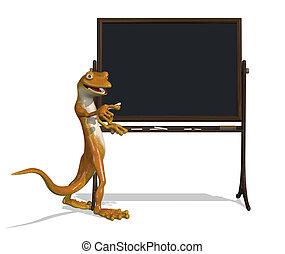 Gecko with Blackboard