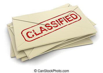 geclassificeerd, brieven