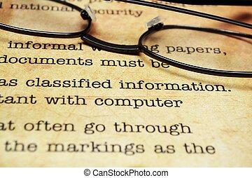 geclassificeerd, document