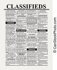 geclassificeerde advertentie