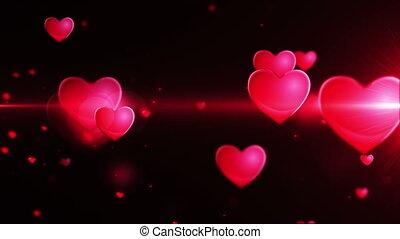 gedaantes, hart, liefde, loopable