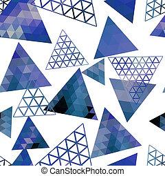 gedaantes, model, geometrisch, retro, driehoeken