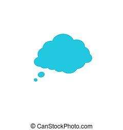 gedachte, balloon., verstand