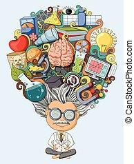 gedanke, wissenschaftler, traum