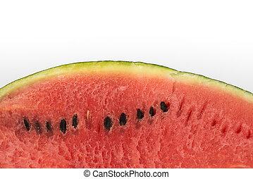 gedeelte, watermeloen, vrijstaand, achtergrond