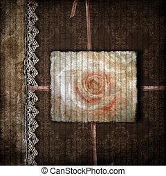 gedenkboek dek, foto's, bruine
