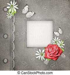 gedenkboek dek, roze, foto's