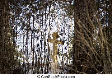 gedenkteken, kruis, orthodox