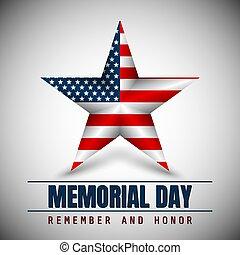 gedenkteken, ster, nationale vlag, kleuren, dag