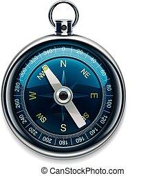 gedetailleerd, kompas, vector, pictogram, xxl
