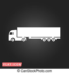 gedetailleerd, silhouettes, vector, vrachtwagens