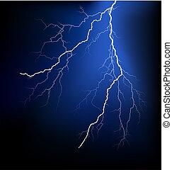 gedetailleerd, vector, lightning