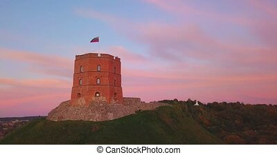 Gediminas castle tower in Vilnius, Capital of Lithuania, ...