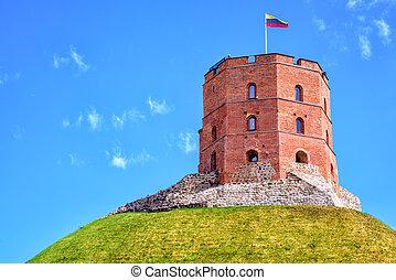 gediminas, lituania, vilnius, torre