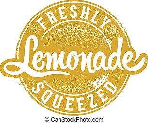 gedrückt, weinlese, limonade, frisch