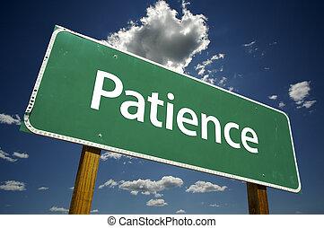 geduld, straße zeichen